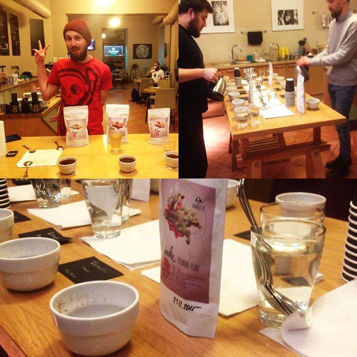 Včerejsi cupping a výběr káv na předplatné v Double B coffee & tea Praha ️️